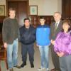 El intendente recibió al campeón sudamericano de tiro helice