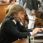 Concejal Ignacio Mateucci en la banca 6 de Diciembre 007