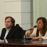 Concejal Jorgelina Glorio presidiendo el concejo 6 de Diciembre 002