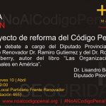 Charla codigo penal - 8 de Abril Frente Renovador