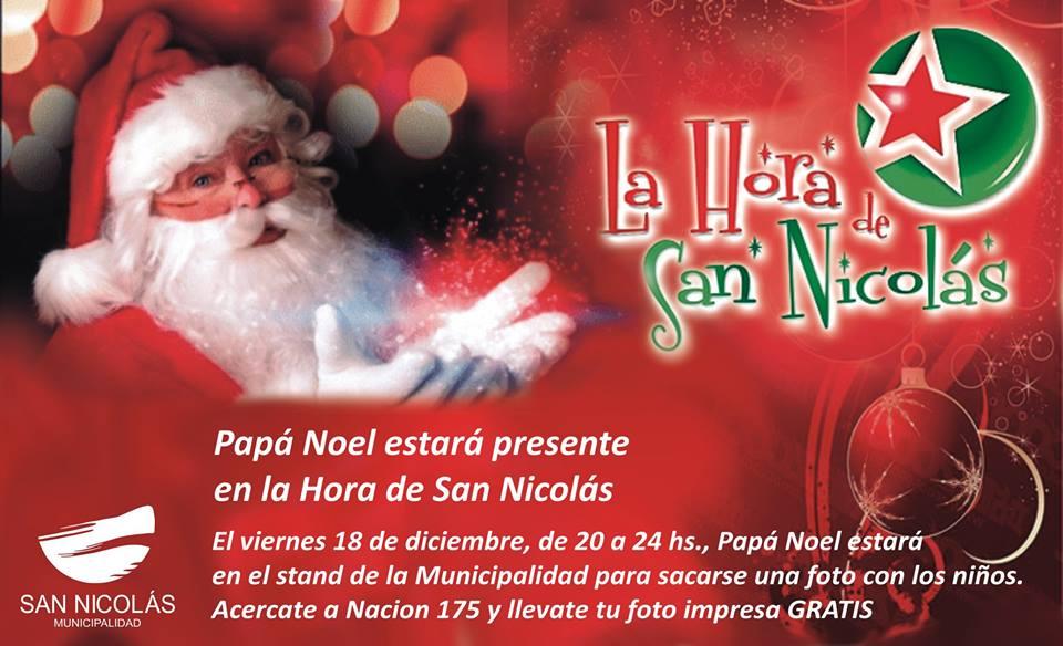 Imagenes Gratis De Papa Noel.Tu Foto Con Papa Noel Gratis En La Hora De San Nicolas